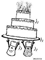 születésnapi torta kifestő Kifestő   100 000 db   nyomtatható kifestők születésnapi torta kifestő